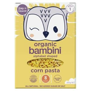 Keep It Cleaner Organic Corn Alphabet Shaped Bambini Pasta 8+ Months 300 gram