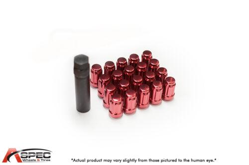20 12X1.5 RED LUG NUTS FITS 4 LUG MIATA SCION XA XB MR2