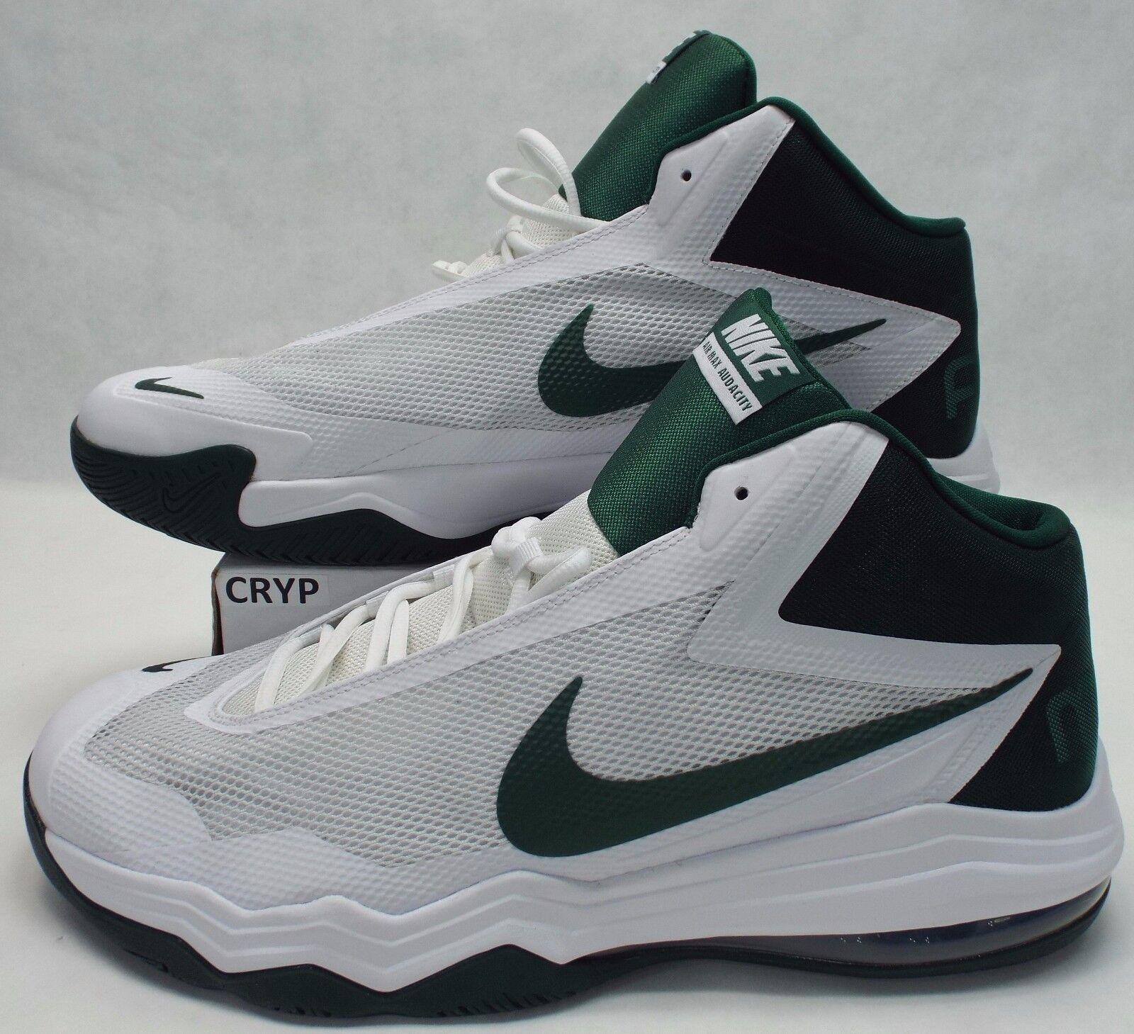 New Mens 17.5 NIKE Air Max Audacity White Green shoes  120 813318-130