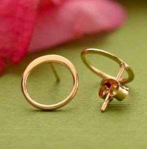 Simple-Minimalist-Rose-Gold-Vermeil-Small-Open-Circle-Stud-Studs-Post-Earrings
