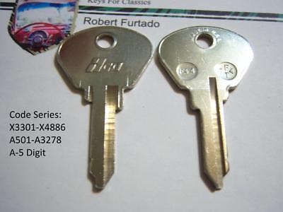 FT37 Key Blanks for Vintage Alfa Romeo doors//trunk Fiat 1967 to 1983