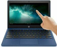 "HP 11.6"" HD TOUCHSCREEN Laptop 8-Core 32GB SSD 4GB RAM Webcam BT Chromebook Blue"