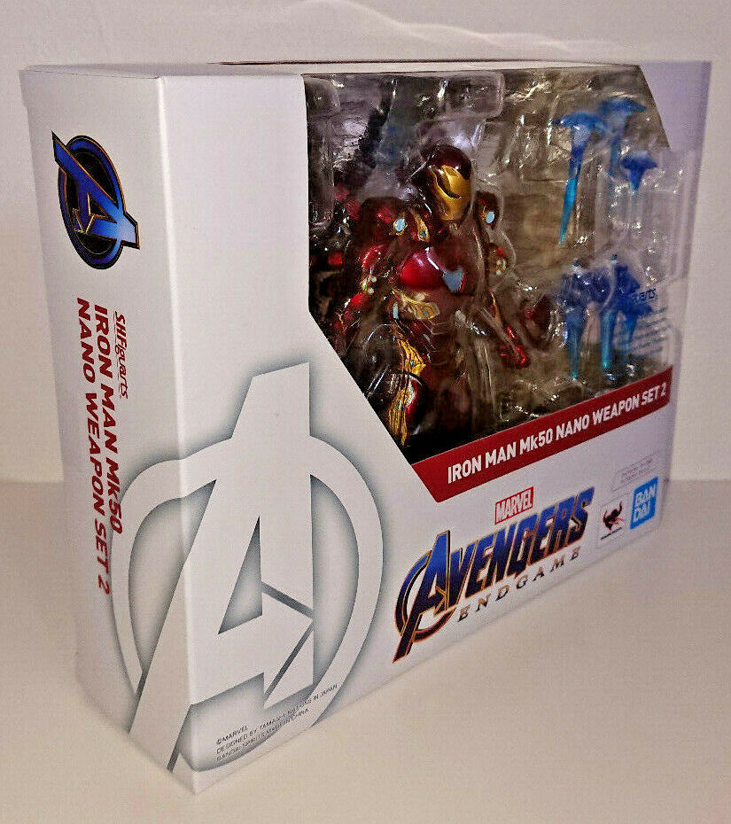 S.H.Figuarts Avengers Endgioco Iron uomo Mark 50 Nano Weapon Set 2 Marvel