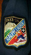 Polo Ralph Lauren Winter SKI PATCH 1/4 zip pullover sweater SMALL navy big pony