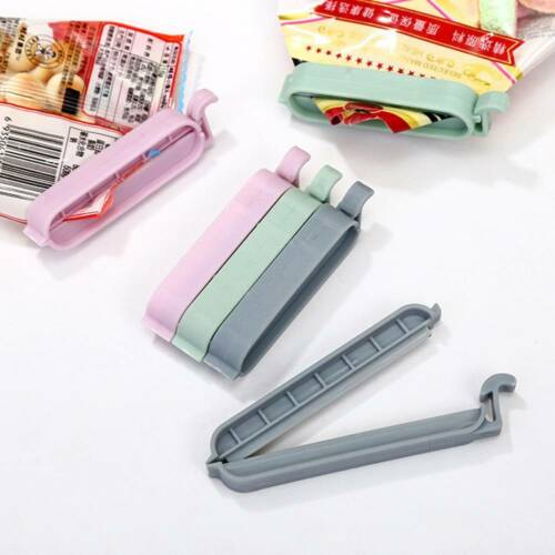 12Pcs//set Bag Clips Snack Fresh Food Storage Seal Sealing Bag Clip Sealer Clamp