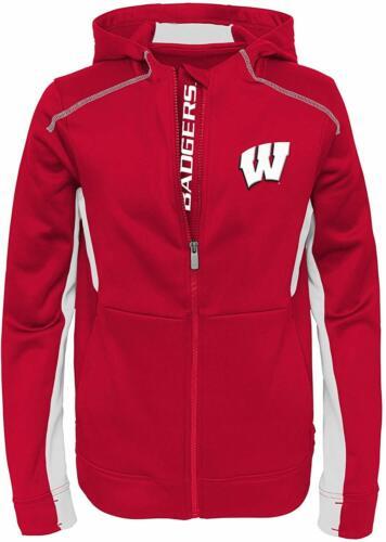 Outerstuff NCAA Youth Wisconsin Badgers Hi-Tech Full Zip Hoodie