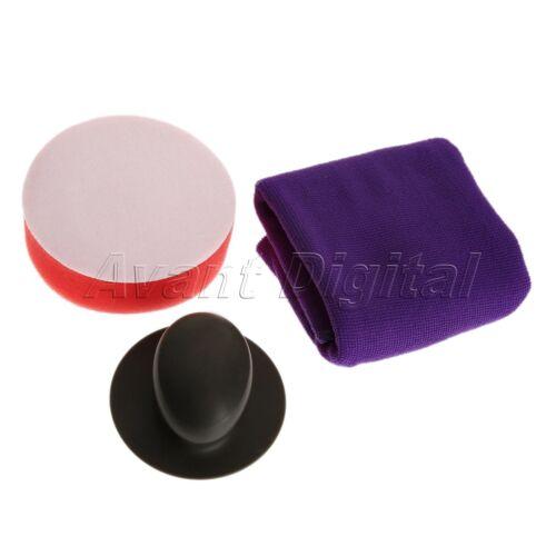 1 Set Wax Handle+Sponge+Towel Polishing Buffing Pad For Car Waxing Polisher Tool