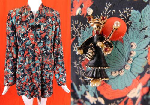 Vintage Textron Japanese Geisha Novelty Print Rayo