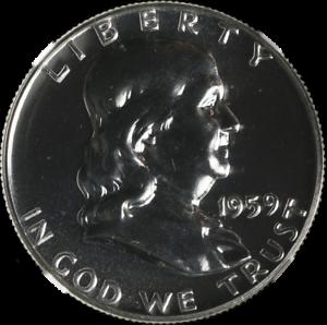 1959-P-Franklin-Half-Dollar-Proof-NGC-PF67-Blazing-White-Gem-STOCK