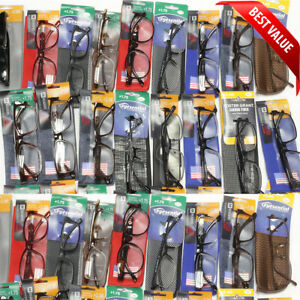 Wholesale-Foster-Grant-Reading-Glasses-With-Case-Bulk-Buy-Brands-Readers-New-Lot