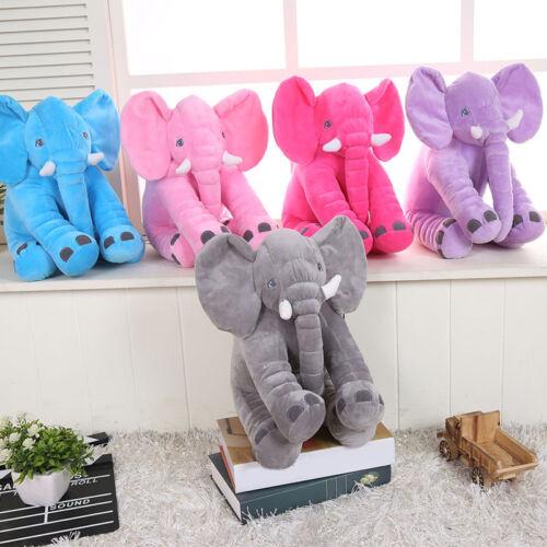 "20/"" Elephant Pillow Soft Plush Stuff Toys Lumbar Baby Doll Cushion Large size"