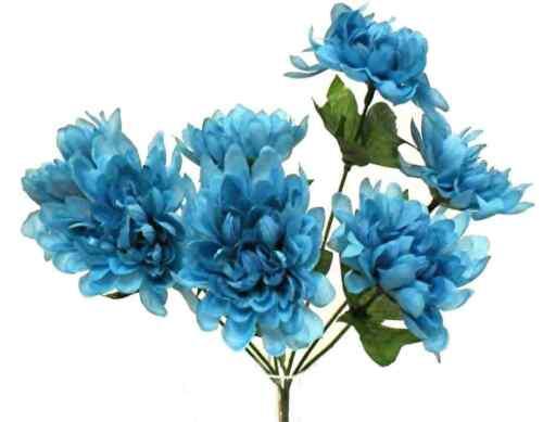 5 Mums MANY COLORS Wedding Centerpieces Bridal Bouquet Home Decor Silk Flowers