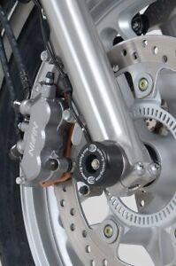 Honda-CB1000R-2008-2017-R-amp-G-racing-black-fork-crash-protectors-bobbins-bungs