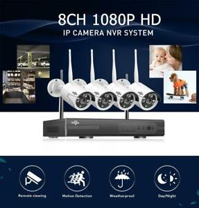Protect your Property !!! Hiseeu 3MP True Wireless WIFI CCTV System 8CH NVR Kit with Face Detection , Free Fast Shipping Canada Preview