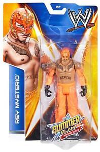 Wwe Rey Mysterio Summerslam Figure de l'héritage 2010 Flashback Orange Luchador