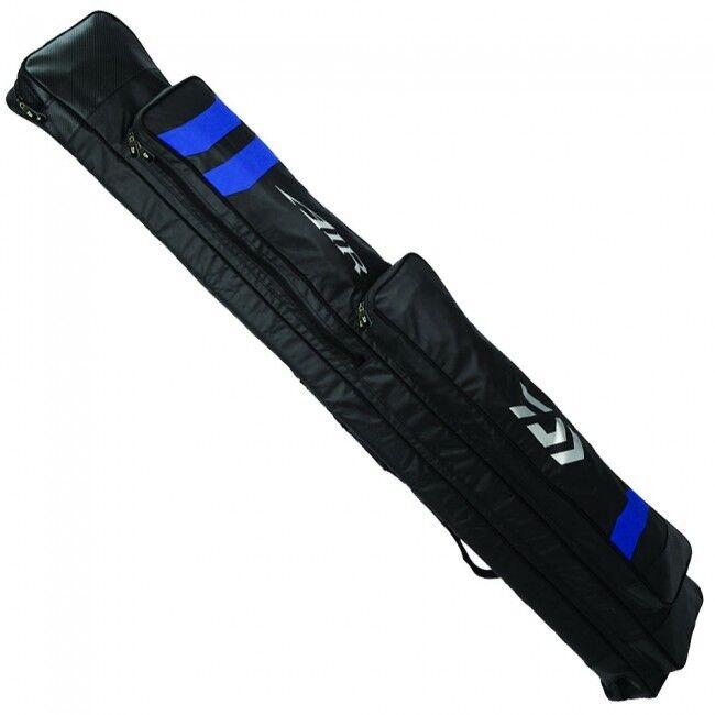 Varilla de 6 tubos de aire Daiwa Holdall Negro y Azul Nuevo Grueso De Pescar 6 caña Holdall