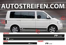 VW Bus T4 T5 R Line Seitenstreifen Aufkleber Dekor Komplett Set