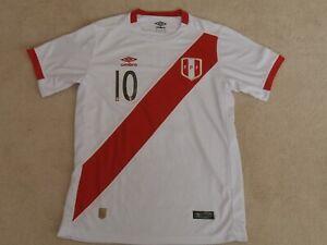 buy popular b12e8 7610d Details about PERU NATIONAL TEAM #10 FARFAN UMBRO FIFA WORLD CUP 2018  SOCCER JERSEY MEN S