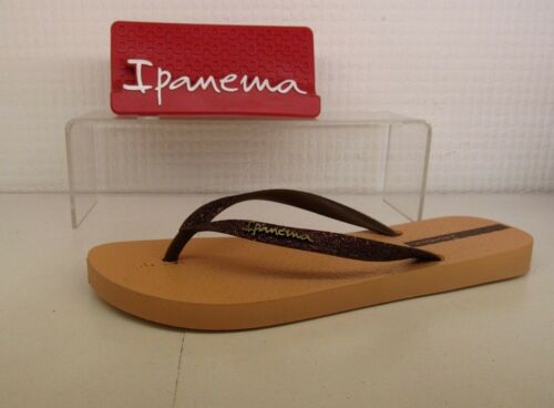 Ipanema Sparkle Nude Bronze Glitter Ladies Flip Flop Made In Brazil Sandal Shoe