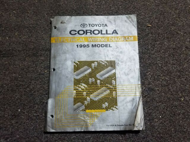 1995 Toyota Corolla Factory Oem Electrical Wiring Diagram