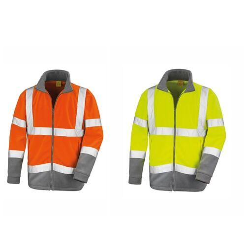 Herren Sicherheits Fleecejacke Result Safety Microfleece Work ISO EN2047 R329X N