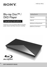 Sony BDP-S6200 Blu-ray Player Owners Manual