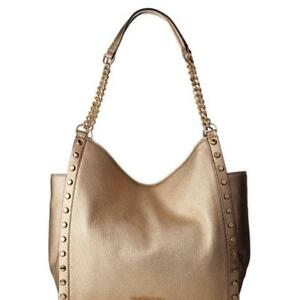 622aded0065b Michael Kors Gold Leather 'newbury Studded Chain Tote Satchel, NWT ...