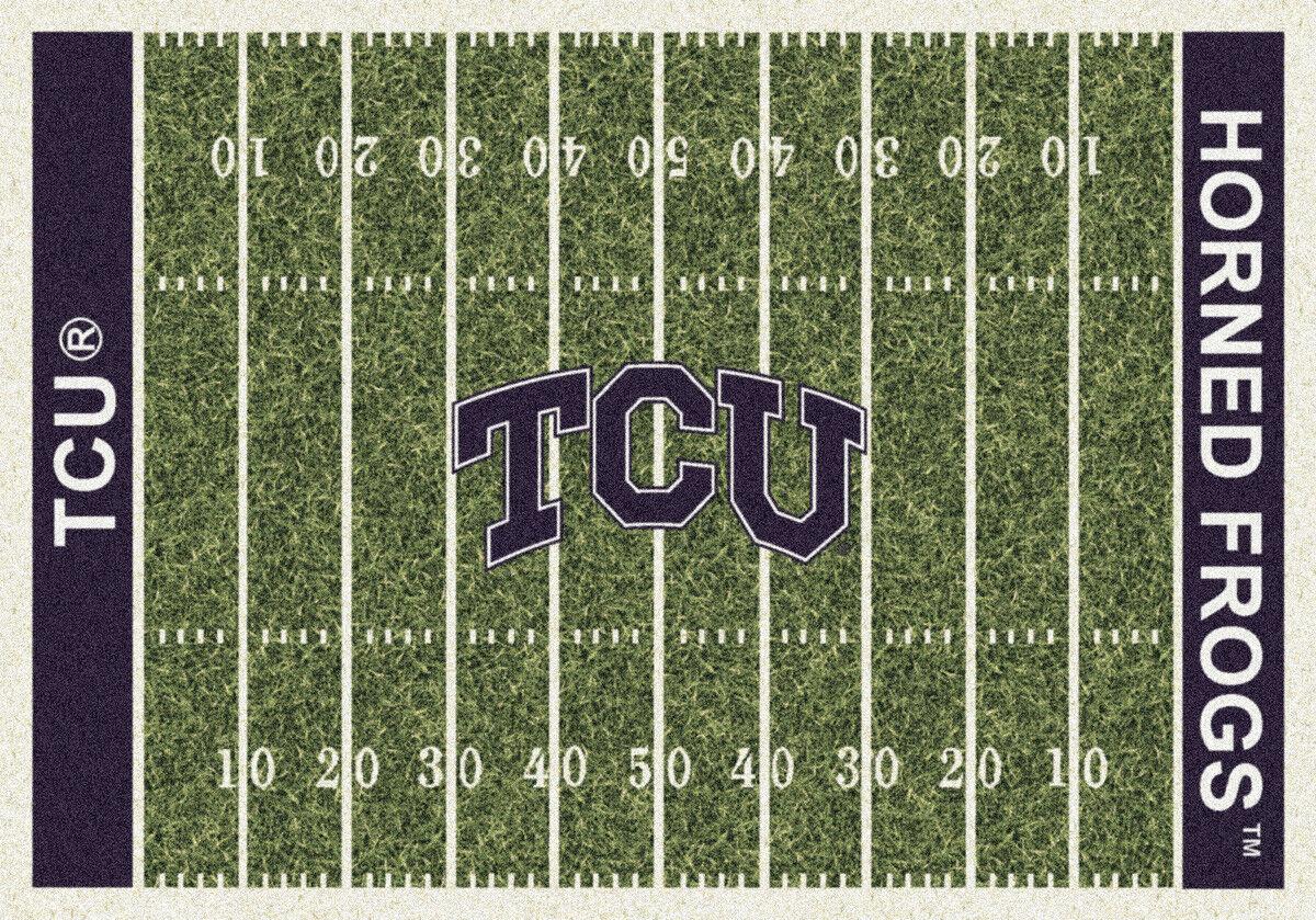 4x6 Milliken TCU Horned Frogs NCAA Field Area Rug - Approx 3'10 x5'4