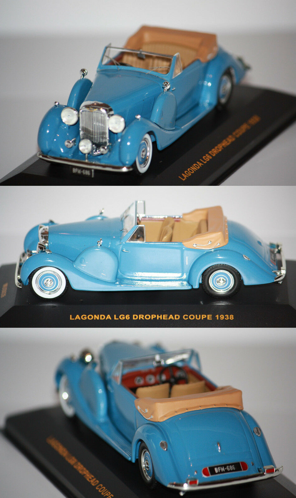 Ixo Lagonda LG6 Drophead Coupé 1938 1 43 MUS039