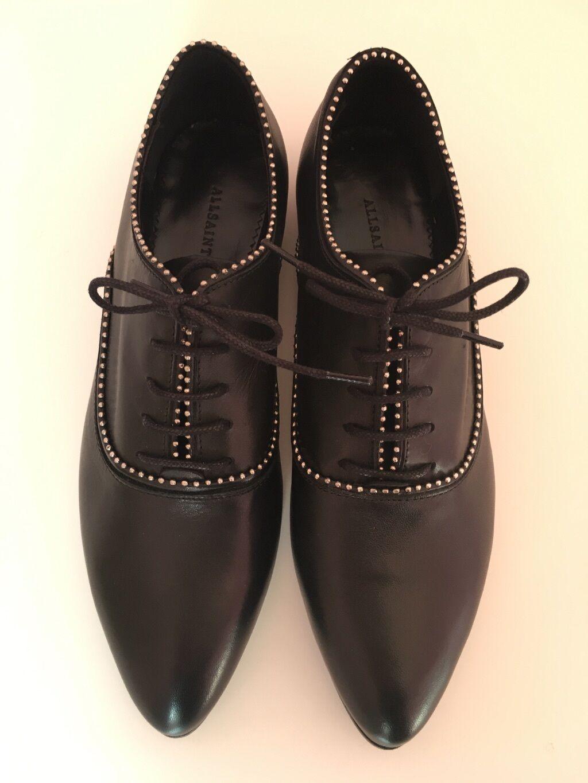 Tutti i Santi, NERO Keiko Stud Oxford Scarpe basse-Scarpe, taglia UK6, confezione in scatola