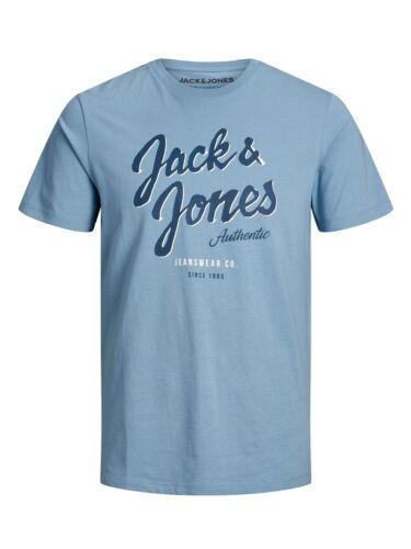Jack /& Jones Hommes Manches Courtes Col Rond T-shirt jjelogo Slim Fit S M L XL XXL