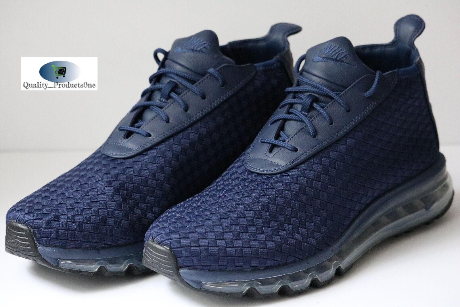Nike Mens Air Max Woven Boot Navy 921854 400 Size 10