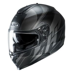 NEU-HJC-Helm-C70-Boltas-schwarz-grau-matt-Gr-XL-61-62-mit-Sonnenblende