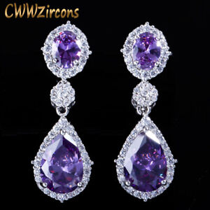 Crystal Water Drop Purple Wedding Party