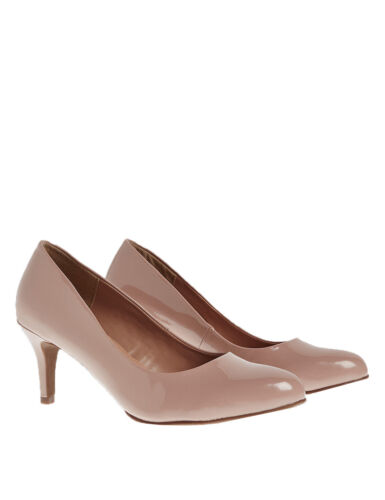 Ex Marks and Spencer  Stiletto Almond Toe Court Shoes Size 3-6 H1