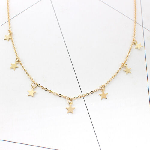 Fashion Simple Women/'s Alloy Necklace Long Five-pointed Star Pendant Nnecklaces