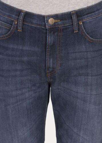 secondi Da Uomo Ex Lee Morton rilassato Jeans Dritti Deep River Blue RRP £ 85 L165