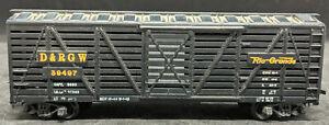MANTUA-D-amp-RGW-39497-RIO-GRANDE-Die-Cast-Base-BLACK-STOCK-CAR-VINTAGE-HO