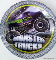 Monster Jam Trucks Party Supplies Plates Cake Birthday Favors Boy Car Birthday