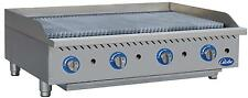 Globe Gcb48g Cr 48 Counter Top Natural Gas Charbroiler Cast Iron Radiant