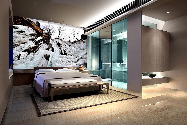 3D Icicle Cliffs 76 Wall Paper Murals Wall Print Wall Wallpaper Mural AU Kyra