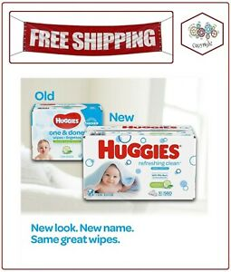 1,008 ct. Disposable Soft Pack Huggies Refreshing Clean Baby Wipes