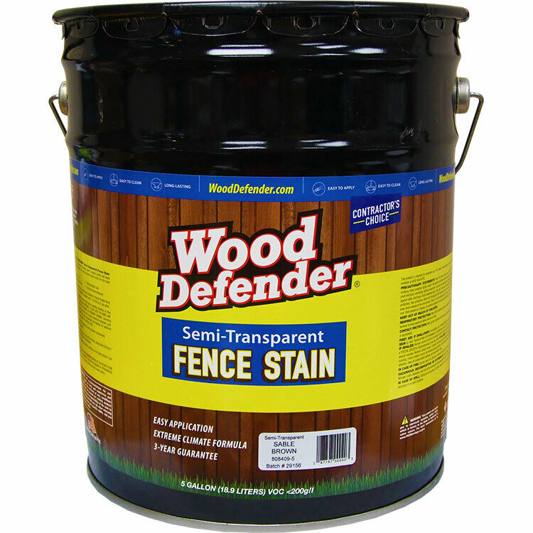 Wood Defender Semi-transparent Fence Stain SABLE BROWN 5-gallon