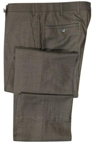 Neuf avec étiquettes-Vigano marron laine//soie mi-poids Laine Pantalon MADE IN ITALY Taille 32