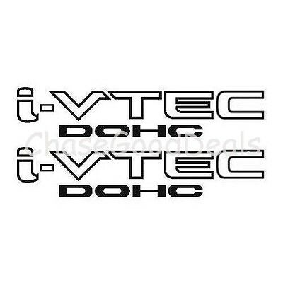 BLACK I-VTEC DOHC STICKER X2 DECAL EMBLEM CIVIC S2000 ACCORD JDM IMPORT ILLEST