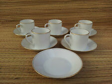 Lot de 5 anciennes tasses en porcelaine liseret dorée ,french antique porcelan