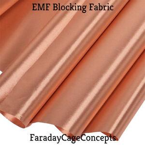 Details about EMF RF RFID Shielding Nickel Copper Fabric Folded- 12
