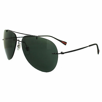 Prada Sport Sunglasses 50PS 7AX3O1 Black Grey Green