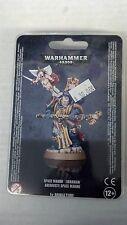 Warhammer 40K SPACE MARINE LIBRARIAN With Force Staff & Cyber-Cherub New Sealed