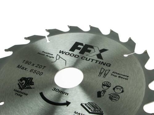 FFX QQ0102500290 190 mm x 20 T X 30 mm TCT lame de scie circulaire